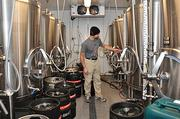 George de Piro, chief brewing officer, inside the new Druthers Brewing operations in Saratoga Springs