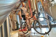 When George de Piro's not brewing, he's cycling. The chief brewing officer at Druthers Brewing rigged a stationary bicycle stand in the brewery that allows him to clock a few miles during the day.