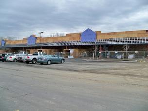 Construction has begun on Hannaford's Round Lake supermarket.