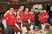 SouthPaw and his friends with the Tri-City ValleyCats get into the spirit of The Business Review's Best Places to Work celebration today at the Crowne Plaza in downtown Albany.