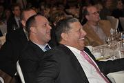 Angelo Mazzone, recipient of the Executive of the Year award, gets a laugh at The Business Review's Achievers award ceremony Nov. 10.