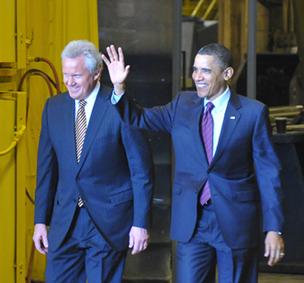 President Obama and GE CEO Jeff Immelt