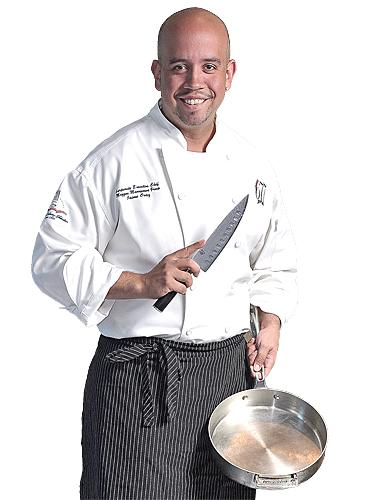 """""""I'm not a hog for the limelight,"""" says Jaime Ortiz, corporate executive chef at Mazzone Hospitality."""