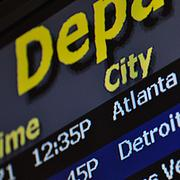 During the week, Delta has three flights to Atlanta. All are heavily booked.