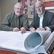 SEI Design Group's senior principals Steve Klempa, left, and Matthew Monaghan.