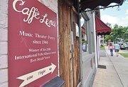 Caffe Lena, a legendary folk music venue on Phila Street in Saratoga Springs.