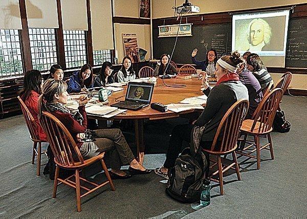 An Emma Willard U.S. history class in Troy.