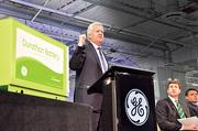"""Also new this year, General Electric's advanced battery plant. CEO Jeff Immelt spoke at the  plant's opening, highlighting the importance of keeping manufacturing in  Schenectady, close to GE's research and development center in Niskayuna.  """"Where you make things has more to do with where markets are, rather than a chase for cheaper labor. That is yesterday's strategy,"""" Immelt said."""