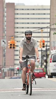 Ethan Georgi, a web developer at Zone 5, commutes 7 miles round trip, year round. The days he doesn't ride are rare.