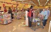 Inside a Hannaford supermarket.