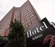 Hotel AlbanyAbout: 385-room hotel at corner of State and Lodge streets in downtown AlbanyImpact: The hotel, soon to become a Hilton, lost at least $50,000 because of cancellations before and after the storm. Many rooms were canceled, including those set aside for a state government conference on emergency preparedness that was supposed to be held at the Empire State Plaza the day before Sandy hit.Looking ahead: Some of the lost business may be recouped from groups that had booked rooms downstate and are now looking for alternate sites because of power outages and facility damage, says Jon Stultz, sales manager.