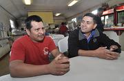 Faces of the Backstretch: Domingo Lopez, left, is from Mexico.