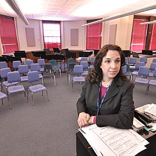 """""""It all comes to a head this year,"""" Angela Nagle, superintendent of the East Greenbush schools, says of the tax issue."""