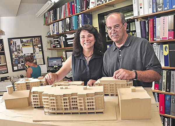 Claudia Henao Olsen, partner and majority owner of Olsen Associates, Architects, with her husband, George Olsen, the other partner in the Saratoga firm.