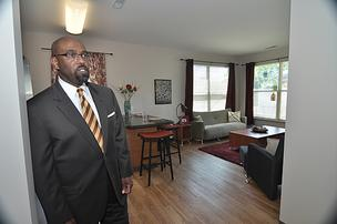 Quintin Bullock, president of Schenectady County Community College, says the new 264-bed student housing project is driving enrollment growth for the two-year school.