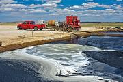 Sabre Technical has crews working in several states, recycling millions of gallons of water contaminated by hydrofracking. The truck here is stationed at an oil-gas field near Roscoe, Utah.