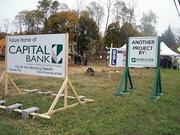 Construction crews recently broke ground on the new Capital Bank branch on Route 9 in Loudonville.