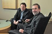 (Right to left) Bob Godgart, Autotask's chairman, brought on Mark Cattini as CEO late last year to grow the business.
