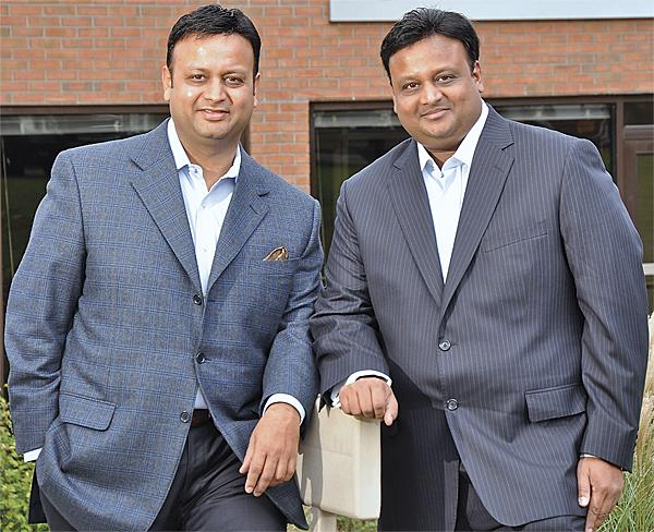 Brothers in arms: Chairman Vikash Agrawal, left, and President/CEO Vikram Agrawal.
