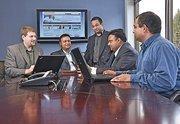 (From left) Brendan Harnett, vice president of strategic projects; Vikash Agrawal, chairman; Avin Joshi, senior vice president of operations;  Vikram Agrawal, president and CEO; and Lalit Kumar, vice president of product development.