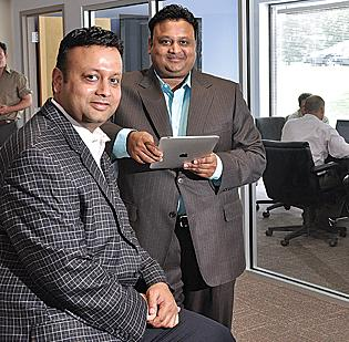 Etransmedia's Agrawal brothers: Vikash, left, chairman and co-founder, and Vikram, president and CEO.