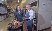 Laura Laz, founder of ChefKey, and investor John Marzilli, proprietor of Saltys Pub & Bistro in Halfmoon.