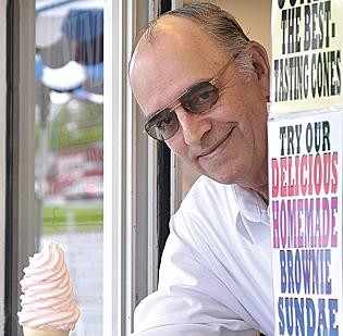 Skip Guptill, owner, Guptill's Coney Express. The Guptill family opened the ice cream stand in 1995. It now accounts for more than 50 percent of revenue in the spring and summer when business at the family's skating rink slows.