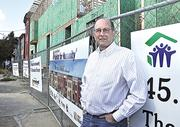 On the job for only a year, Michael Jacobson, executive director of Capital District Habitat for Humanity, led the effort to build 16 row houses in Albany's South End.