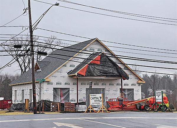 A Capital Bank under construction on Route 9.