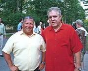 Earlier this year at the Siro's Cup fundraiser with friend Bob Ausfeld.