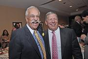 Mazzone with long-time friend LeGrande Serras at The Business Review's Achievers awards at the Troy Hilton Garden Inn.