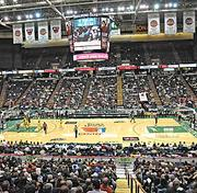 The Siena College men's basketball team plays Rider University at the Times Union Center in Albany. This is the 15th year Siena has played all its home games at the arena, the region's largest indoor sports venue. Siena, which doesn't have its own arena, is under contract to play in downtown Albany through spring 2016.