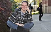 Katrina Ranc, a student at The College of Saint Rose, is looking for a job in human resources.