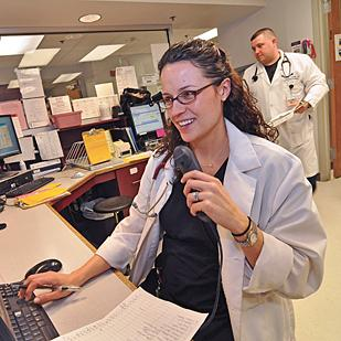 Dr. Aimee Conlee, an emergency department physician at Samaritan Hospital. HIXNY will be studying the accuracy and usefulness of patient drug histories to emergency room doctors.