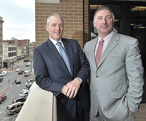 SEFCU CEO Michael Castellana, right, recruited Tom Amell as the credit union geared up to expand its business loan portfolio by going head to head with banks.