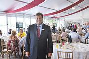 Capital Region KeyBank President Jeffrey Stone hosted an event at the track this season for 150 customers and employees.