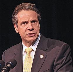 New Yorkers are praising the way Gov. Andrew Cuomo has handled Hurricane Sandy and its aftermath, a new survey shows.