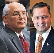 Congressman Paul Tonko (left), a Democrat, beat Republican Robert Dieterich to retain his seat in the 20th Congressional District.