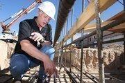 From the Aug. 3 print story:Smart Strategies: Kirk McWethy, president, SDV Construction SDV Construction President Kirk McWethy looks over rebar at the Veterans Hospital construction site.