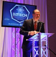 Albuquerque Mayor Richard Berry gave the opening remarks for the awards ceremony, discussing the strength of New Mexico's tech community.