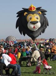 "From the October 8 online story and photo gallery: Balloon Fiesta lifts off [PHOTOS] Special shape balloons were in abundance during the mass ascension. Each year there is a competition held among ""special shape"" balloonists."