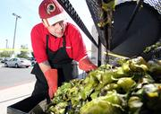From the Aug. 24 print story:Green chile catching on beyond NM borders Jason Cordova, who roasts green chile at John Brooks Supermart on Candelaria. Does this make you as hungry as it does us?