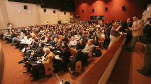 Some 300 people packed the Bank of America auditorium, but at least 200 or 300 more had to be turned away.