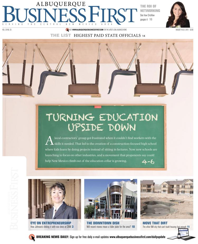 As Dennis Domrzalski reports in Albuquerque Business First this week, ACE Leadership High School is taking an approach to career-focused education that's way beyond vocational school, and the model is broadening out to other schools.