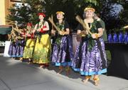 Hula dancers perform at the event.