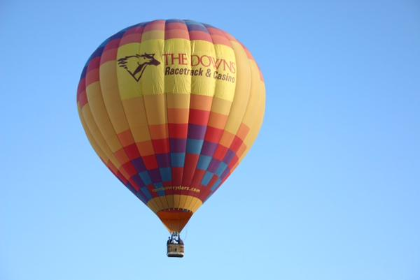 The Downs Racetrack & Casino will lift off a new promotion offering rides through a partnership with Rainbow Ryders Hot Air Balloon Company by unveiling a balloon with its logo on it a this year's Balloon Fiesta.