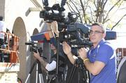 Albuquerque news media showed up for the flash mob.