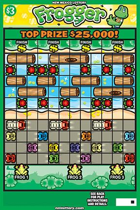 The New Mexico Lottery is introducing a new scratch-off ticket based on Frogger, an old arcade game based on safely crossing the road.