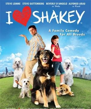 Ebony (Shakey) is in the foreground of this movie poster.