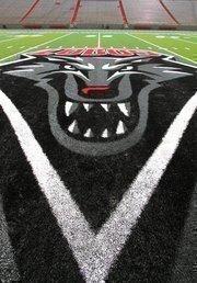 Lobo logo on the field